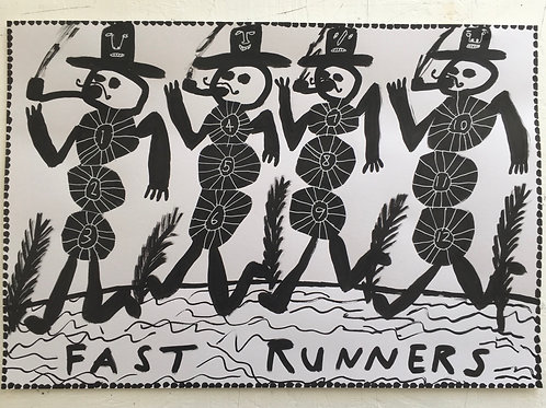 Fast Runners. 16.5 x 11.7 inches.