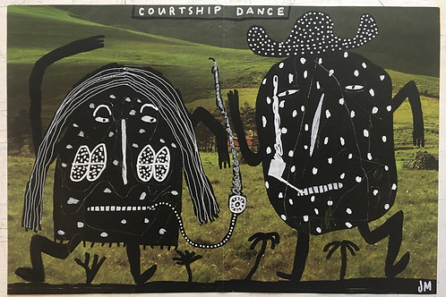 Courtship Dance. 17.5 x 11.7 inches.