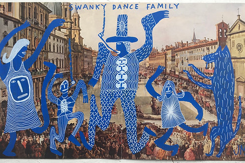 Swanky Dance Family. 19.75 x 12 inches.