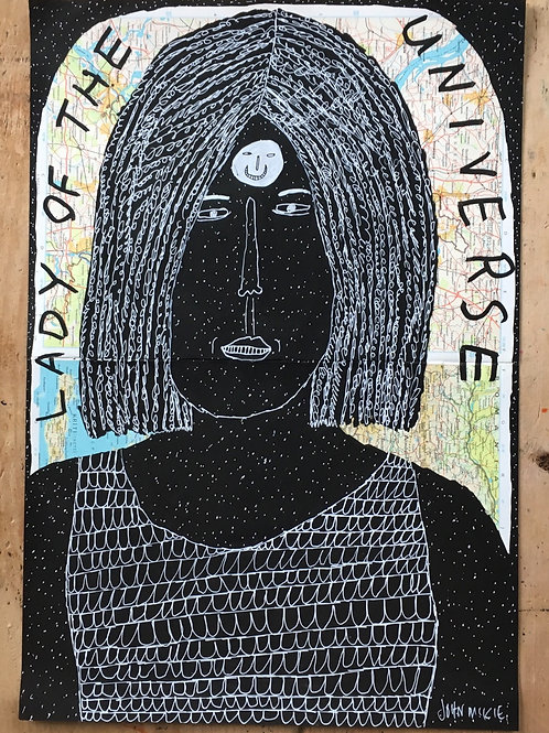 Lady of the universe.  21.5 x 14.74 inches.
