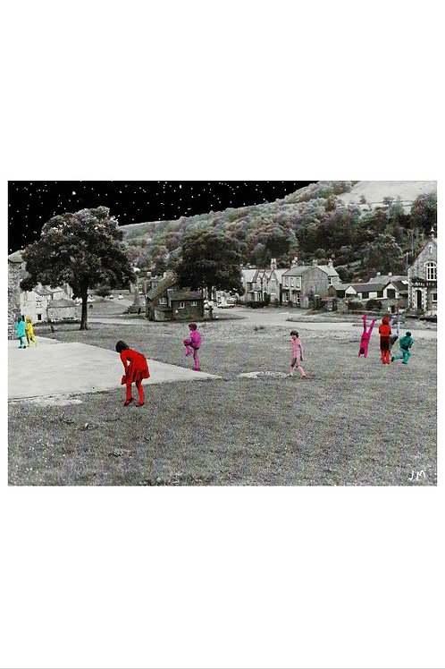 Multicoloured Children.  A3 Giclee Print.