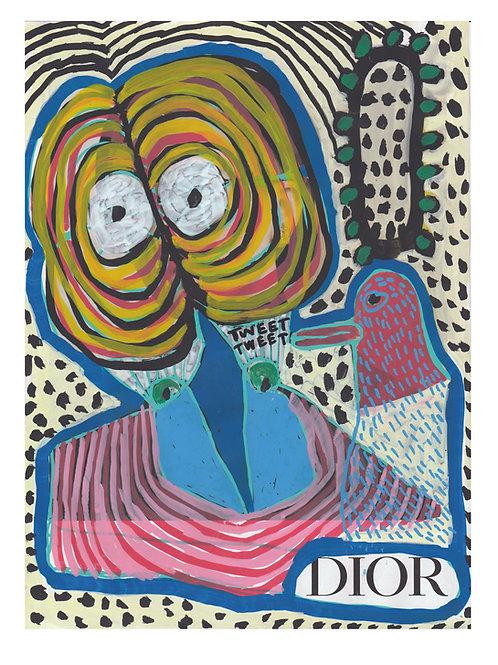 Dior.  A3 giclee print.