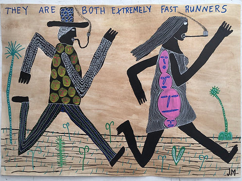They Are Extremely Fast Runners. 23 x 16.5 inches.
