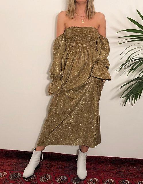GOLD SHIMMER EMILY DRESS