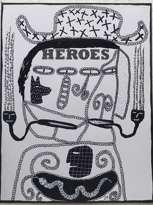 Heroes. 13 x 10 inches.