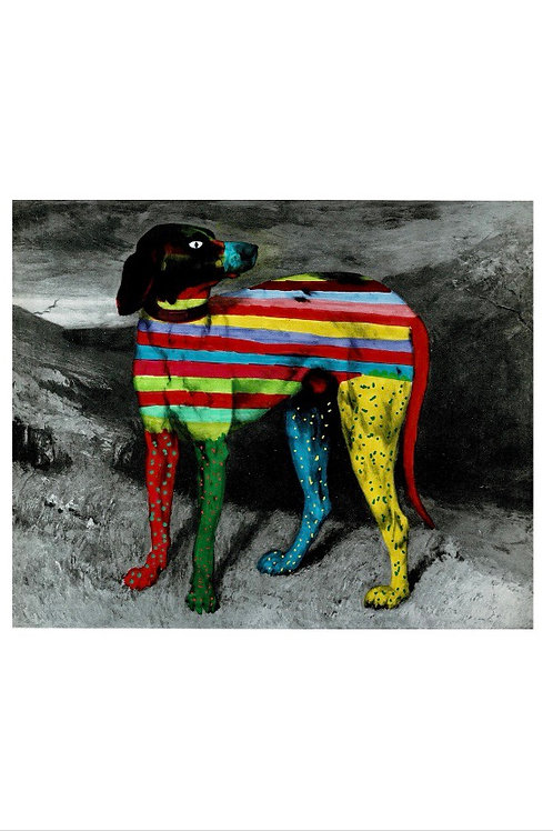 Dog With Stripes And Spots.  A3 Giclee Print.
