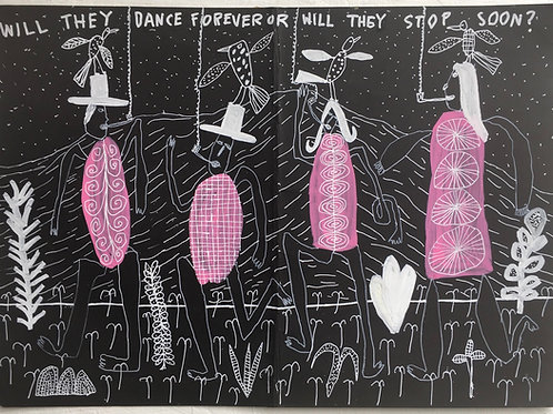 How Long Will They Dance For? 16.5 x 11.7 inches.