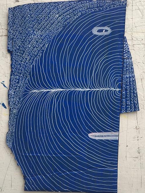 Blue Head. 14.8 x 10.25 inches.