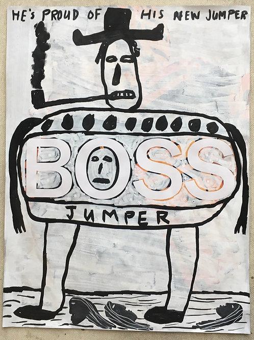 Boss Jumper. 11.25 x 8.5 inches.