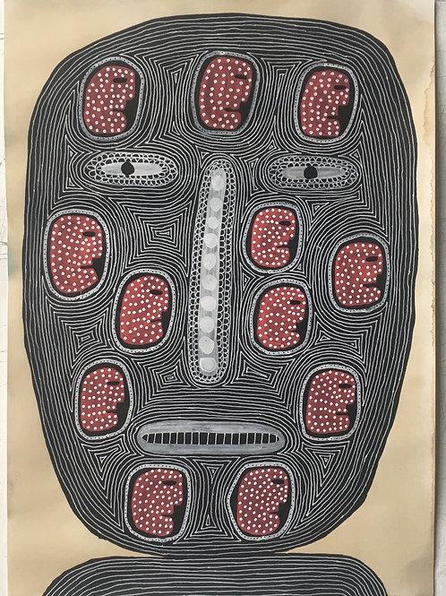 Man's Head. 16.5 x 11.7 inches.