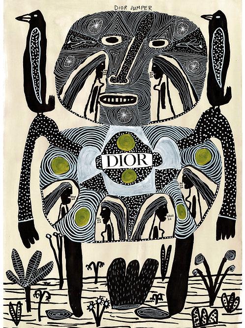 Dior Jumper.  A3 Giclee Print.