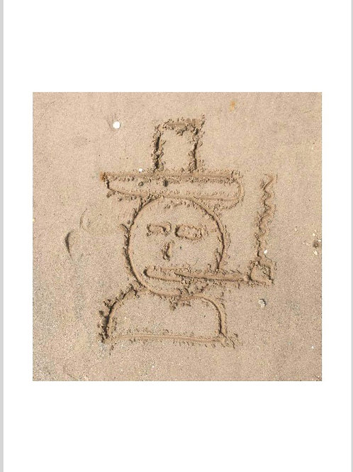 Man On The Beach.  A3 Print.