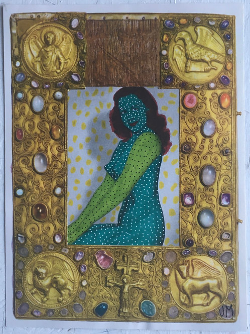 Green Lady. 8.5 x 6.25 inches.