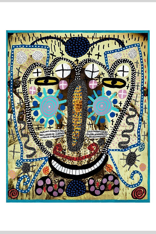 Mr. Happy. A3 Giclee Archival Print.
