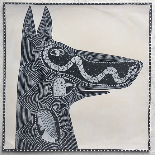 Dog's Head. 12 x 12 inches.