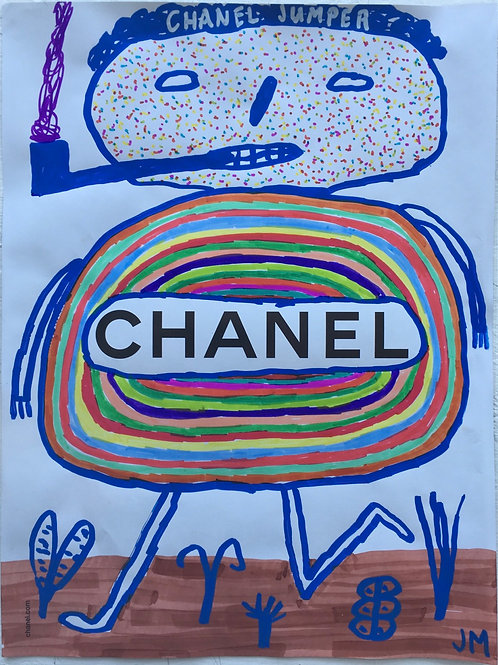 Chanel Jumper Advert. 11.2 x 8.5 inches.