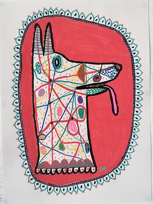 Dog. 20 x 14.7 inches.