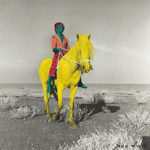 Yellow Horse.  A3 giclee print.