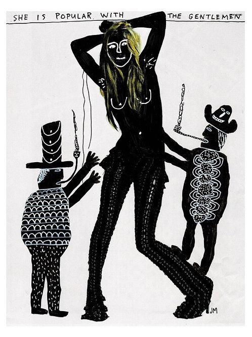 Lucky Lady.  A3 Giclee Print.