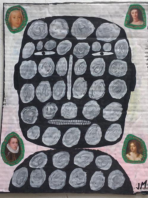 Man's Head. 14.5 x 11.5 inches.