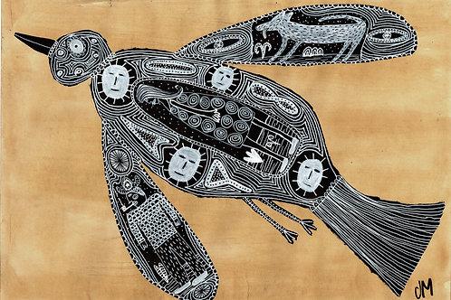 Bird.  A3 Giclee Print.