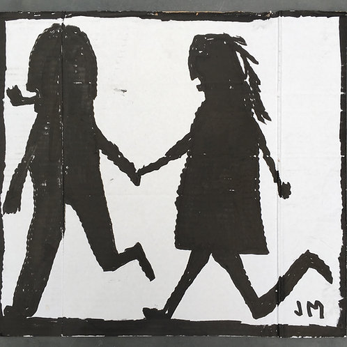 Love on the beach. 15.75 x 14.75 inches.
