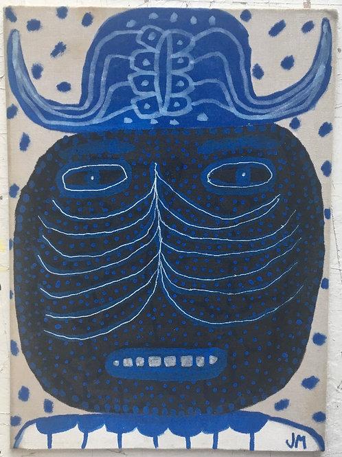 Blue Man. 12 x 9 inches.