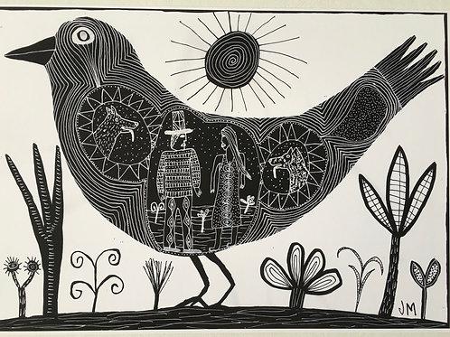 Bird. A3 Archival Giclee Print.