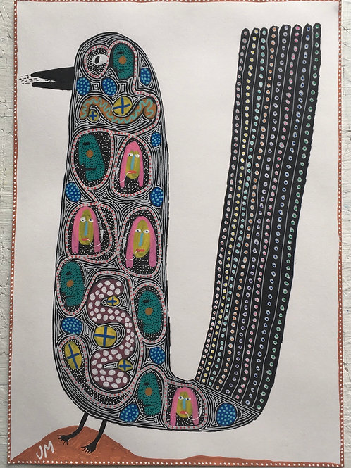 Bird. 16.5 x 11.7 inches.