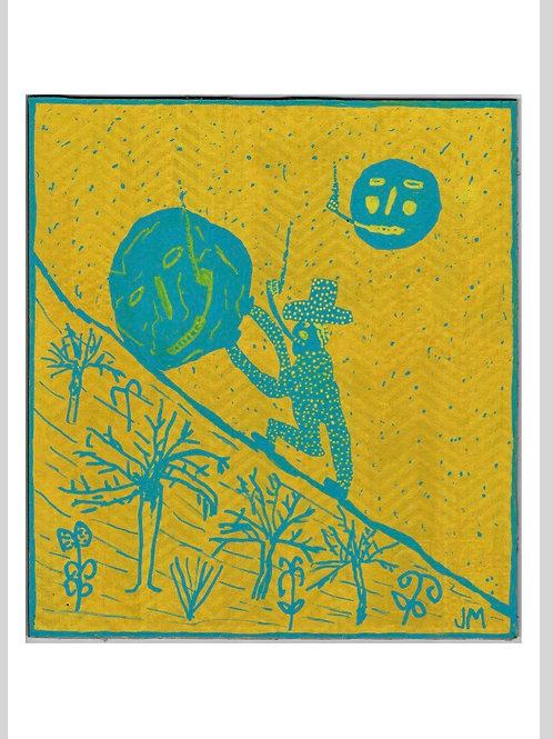 Sisyphus. A3 Giclee Print.