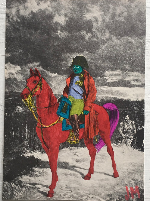 Man On A Horse. 9.75 x 6.75 inches.