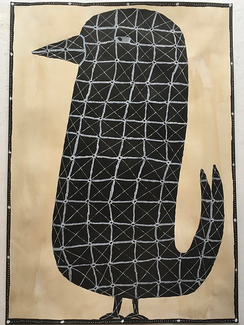 Bird. 23.5 x 16.5 inches.