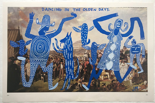 Dancing In The  Olden Days. 17.75 x 11.75 inches