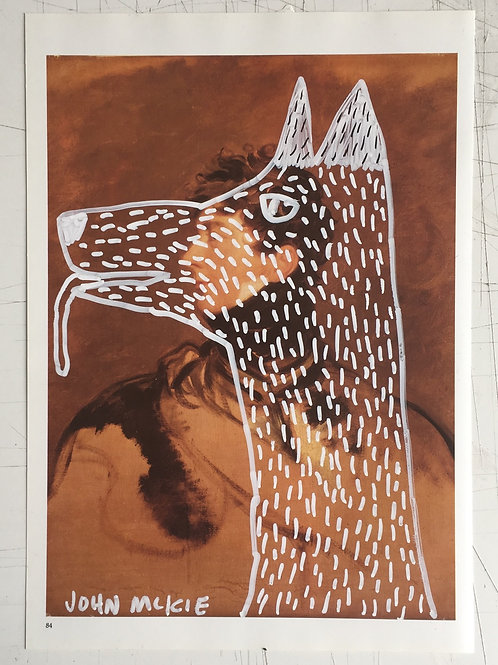Dog. 11.75 x 8.2 inches.