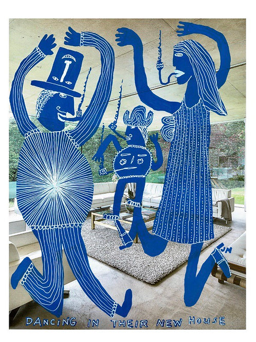 Dancing In Their New House.  A3 Giclee Print.