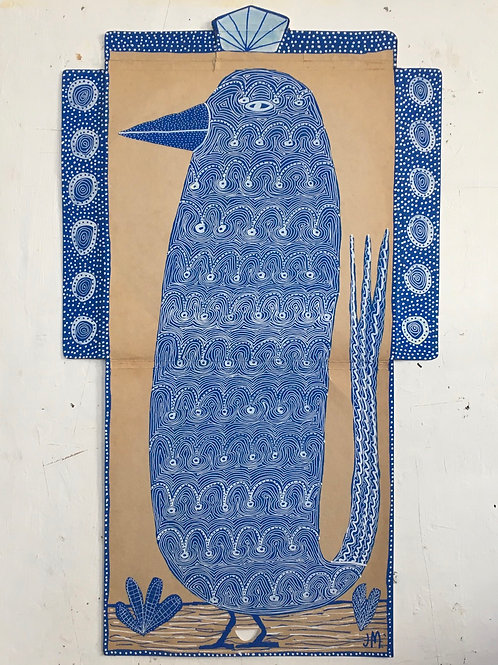 Blue Bird. 27 x 16 inches.