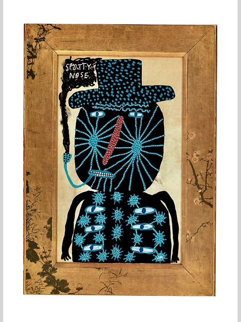 Portrait Of A Man With A Spotty Nose.  A3 Giclee Print.