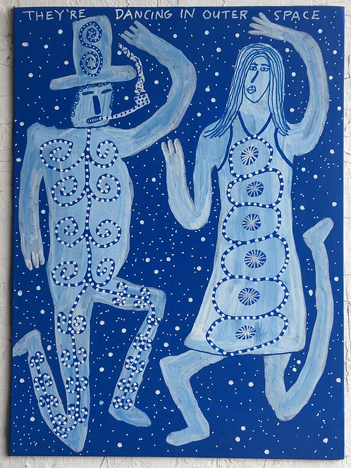 Dancing In Outer Space. 11 x 8 inches.