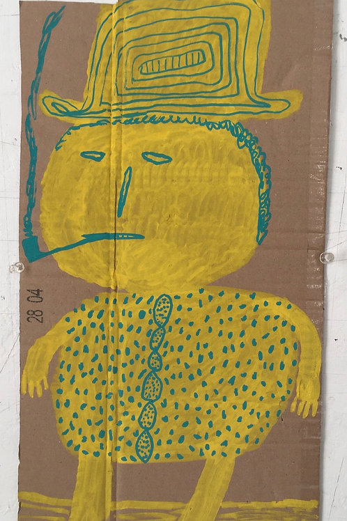 Yellow Man. 17.75 x 9.2 inches.