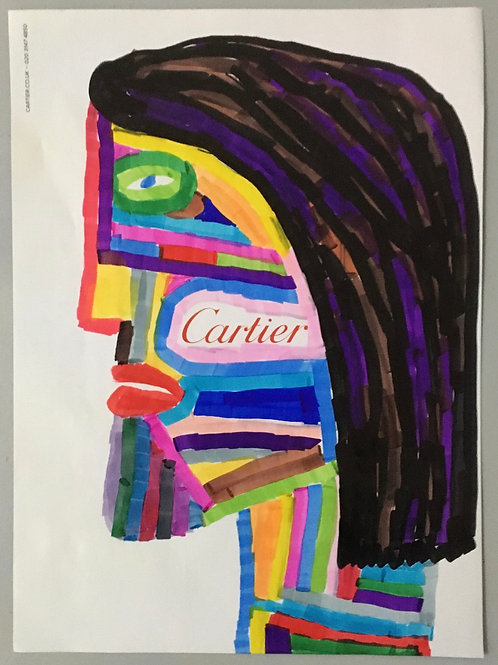 Cartier Advert. 11.4 x 8.4 inches.