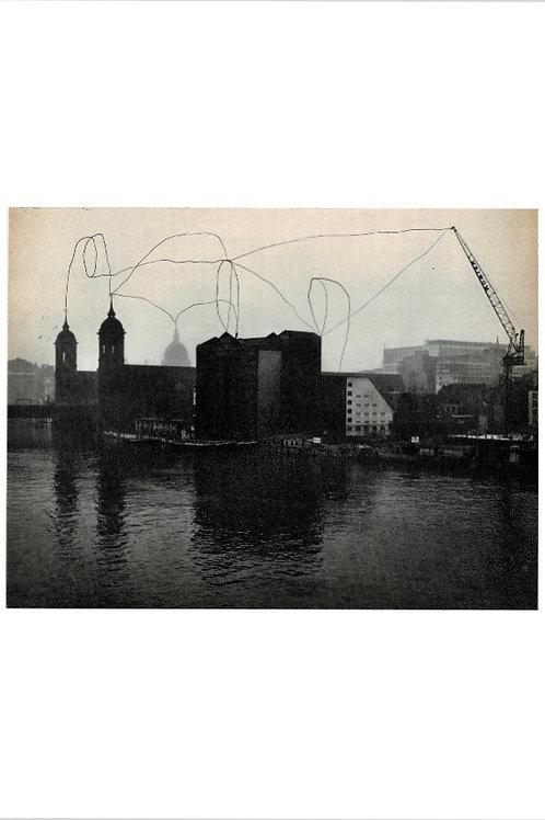 Crane On The Thames.  A3 Giclee Print.