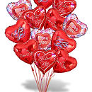 I Love You Heart Balloon Bouquet NYC