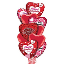 Happy Valentines Day Heart Shapes Bouquet
