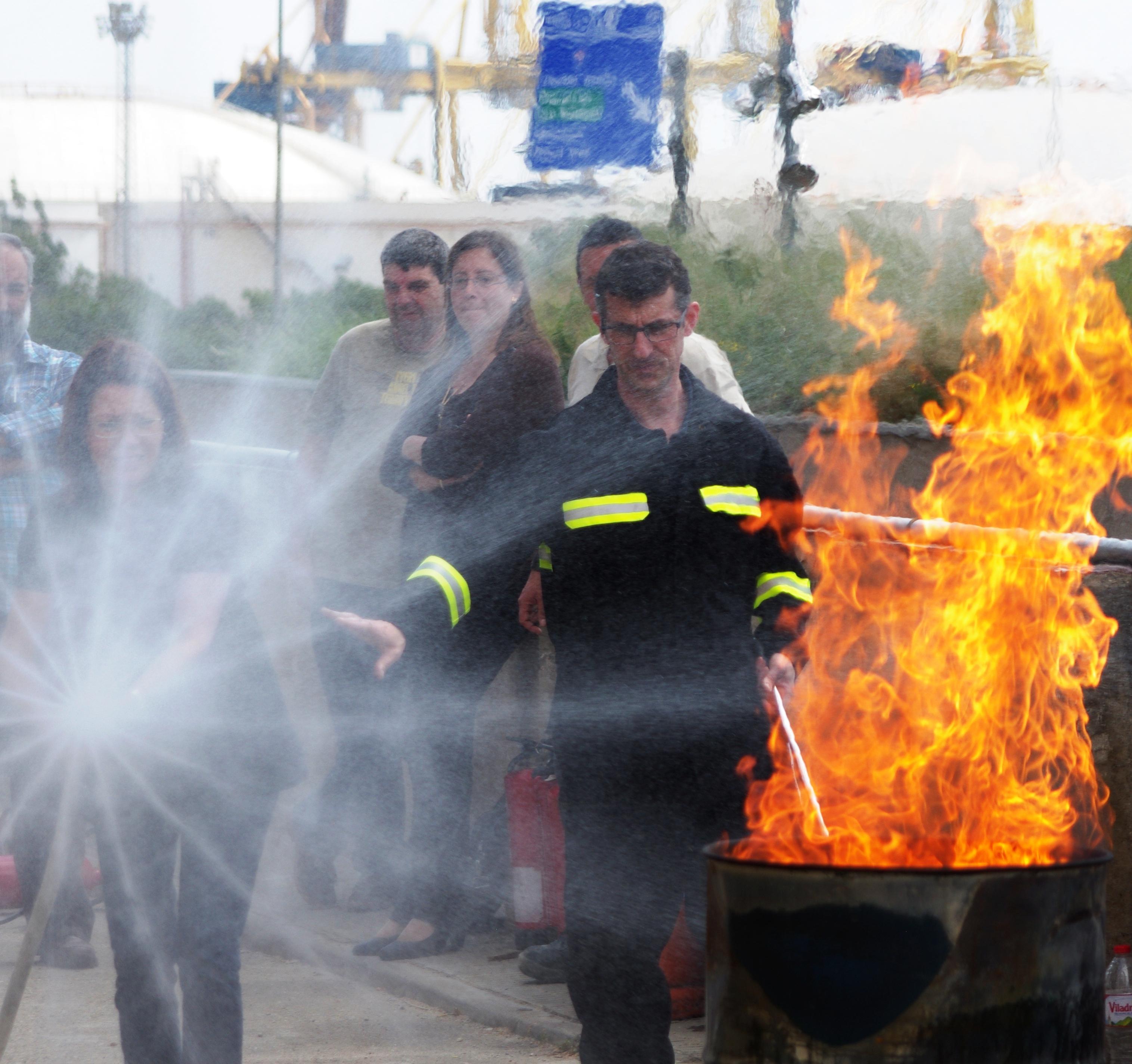 Formació bàsica contra incendis
