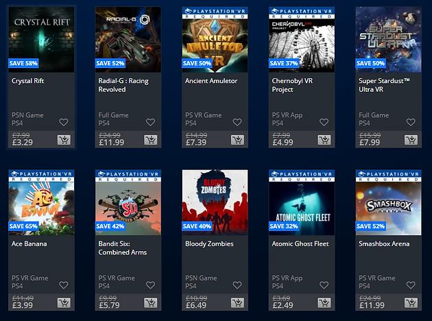 PSVR Games PSN January Sale (UK Only)