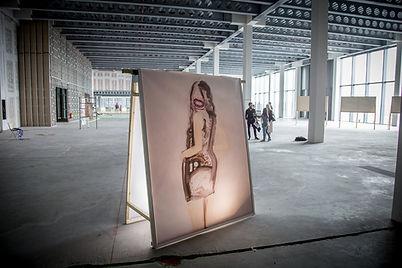 Untitled (reverse), 2018, wood frame, vi