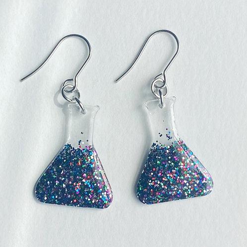 Erlenmeyer Flask resin earrings