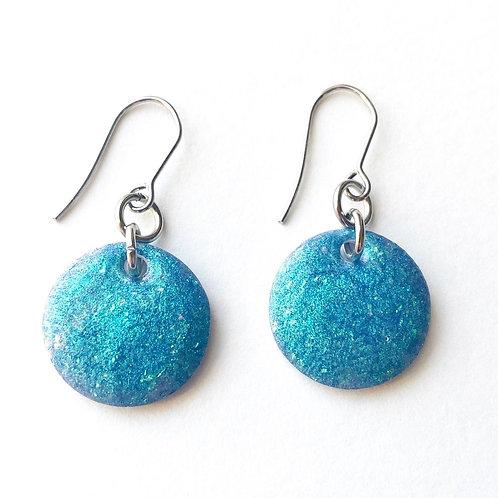 Mermazing Blue Resin Earrings