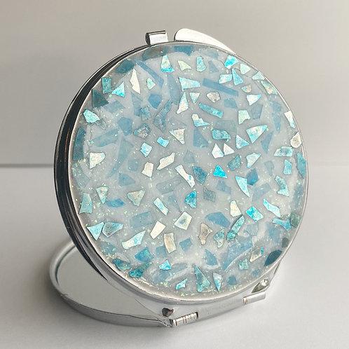 Blue Mosaic Compact Mirror