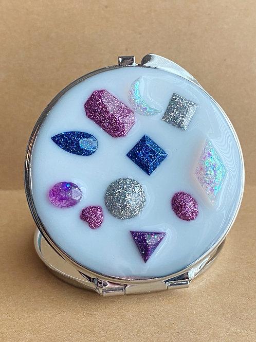 Resin Gems Compact Mirror